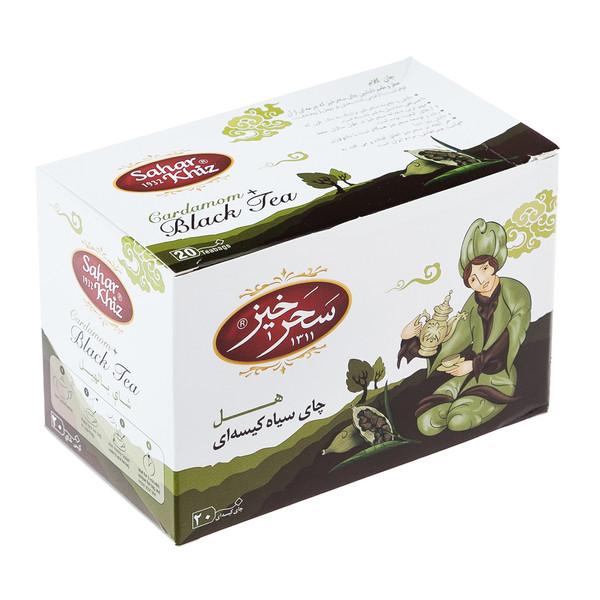 چای سیاه کیسهای هل سحرخیز بسته 20 عددی