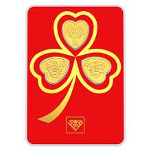 پلاک طلای 24 عیار طلای محمد مدل قلب شبدر