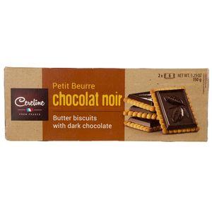 بیسکوییت شکلات تلخ سرلین مقدار 150 گرم