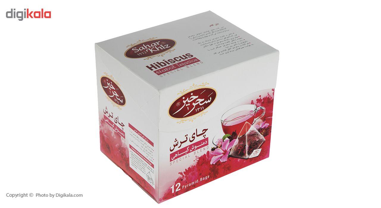 دمنوش کیسه ای هرمی چای ترش سحرحیز بسته 12 عددی main 1 1