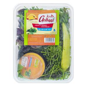 سبزی خوردن هفت گیاه گل باز مقدار 250 گرم به همراه ترشی فلفل هالوپینو