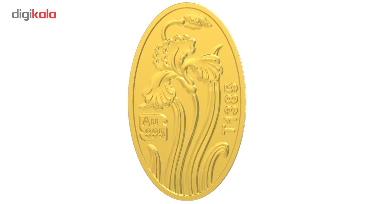 پلاک طلای 24 عیار طلای محمد مدل گل زنبق zbp
