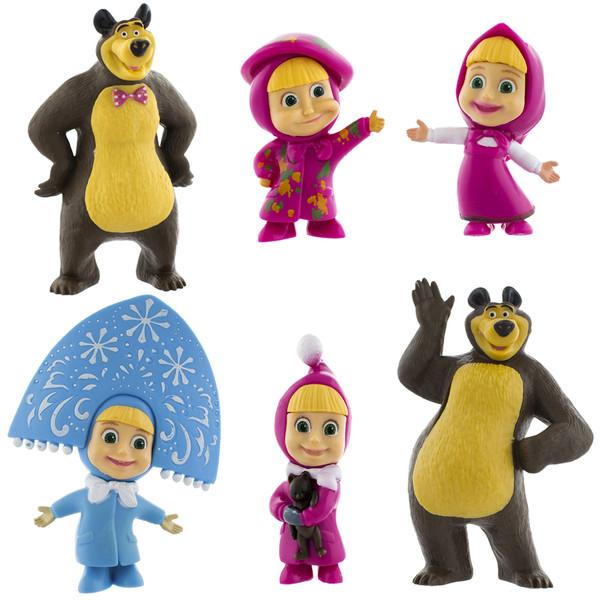 عروسک ماشا و میشا مدل Masha & Misha بسته 6 عددی