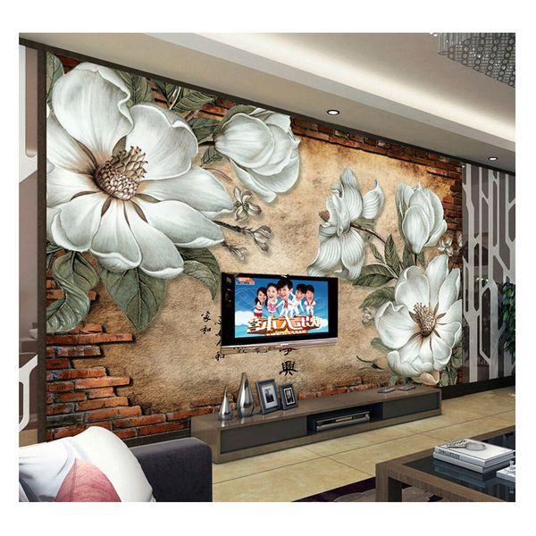 کاغذ دیواری سالسو A-white flower | salso Wallpaper