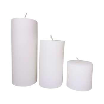 شمع ارکیده مدل استوانه بسته 3 عددی
