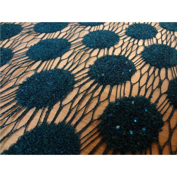 پارچه لباسی هریس گیپور پولکی طرح جدید کد 1010