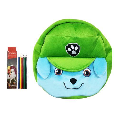 کوله پشتی کودک مدل سگ نگهبان راکی به همراه مداد رنگی