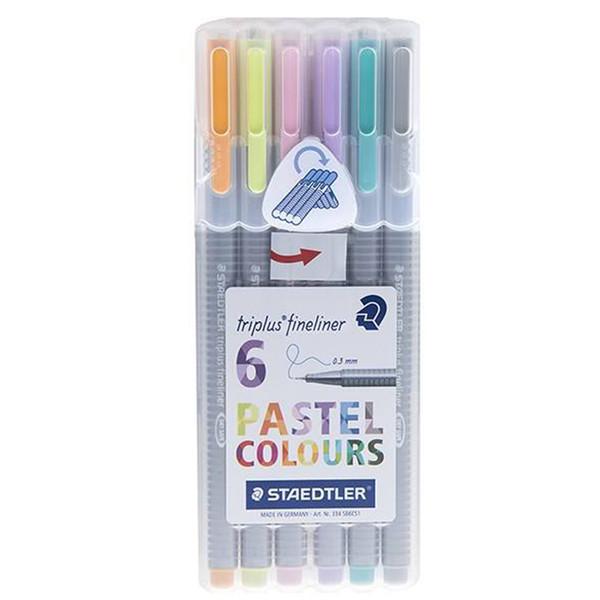 روان نویس 6 رنگ استدلر مدل Triplus Pastel Colours سایز 0.3