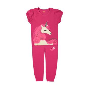 ست تی شرت و شلوار دخترانه مادر مدل 2041104-66