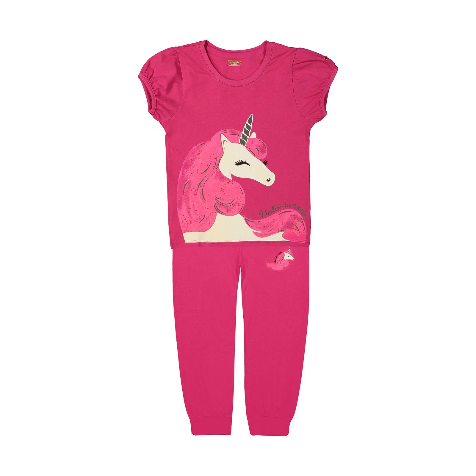 ست تی شرت و شلوار دخترانه مادر مدل 2041104-66 -  - 2