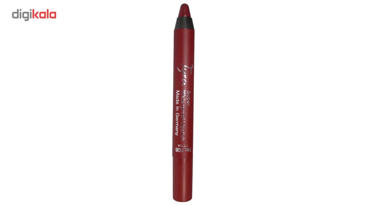 رژلب مدادی ضد آب تایرا شماره 608