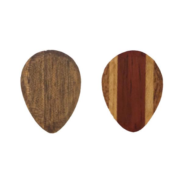 پیک چوبی  افرافر پادوک کهور ترکیبی و گردو  چوپیک طرح اشکی بسته 2 عددی