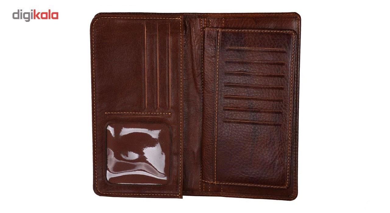 کیف پول چرم طبیعی پارینه مدل LWS47-3