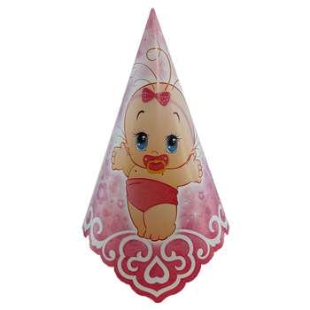 کلاه اکلیلی تولد مدل BABY GIRL  کد2 سایز 120