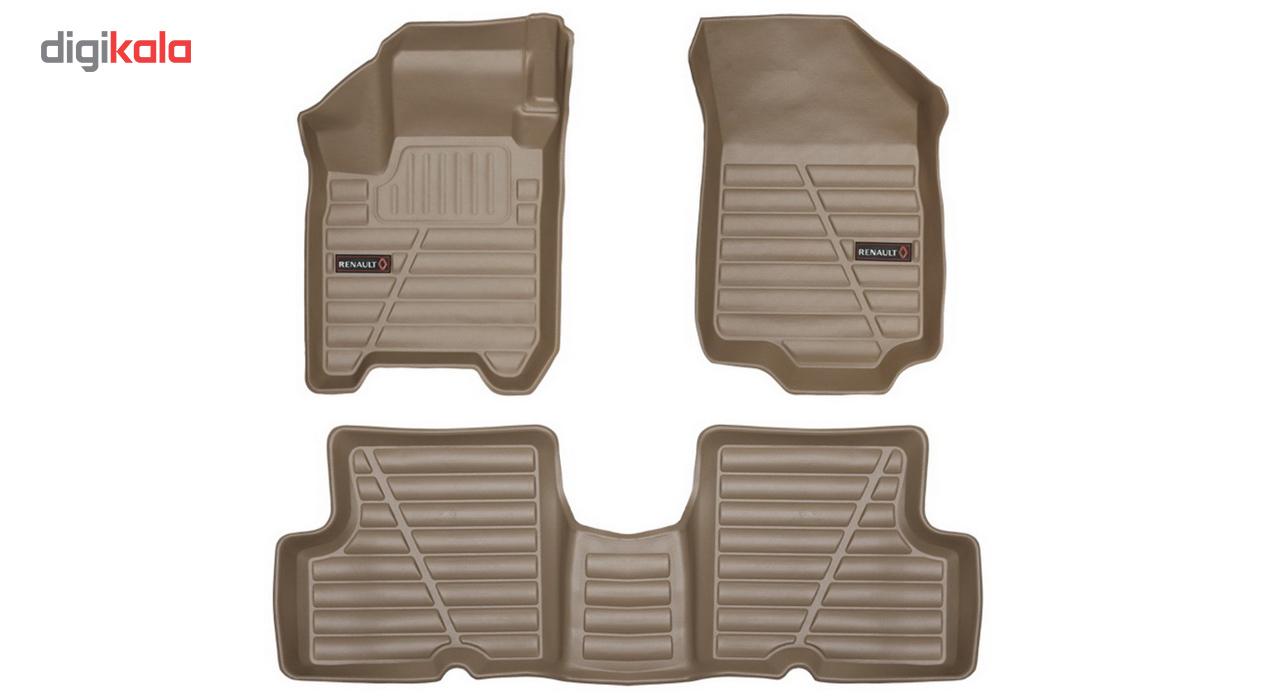 کفپوش سه بعدی چرمی خودرو لاستیک گیلان مناسب برای رنو ال 90