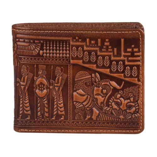 کیف پول چرم طبیعی پارینه مدل LPS2