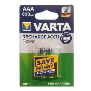 باتری نیم قلمی قابل شارژ وارتا مدل ACCU-800 بسته 2 عددی