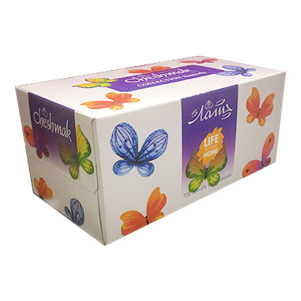 دستمال کاغذی 100 برگ چشمک مدل Butterfly