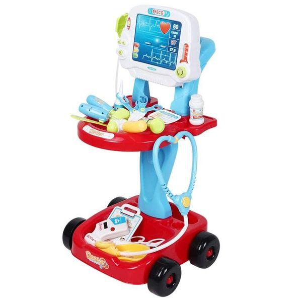 ست اسباب بازی تجهیزات پزشکی مدل میز دکتری کد 660-46 مجموعه 17 عددی