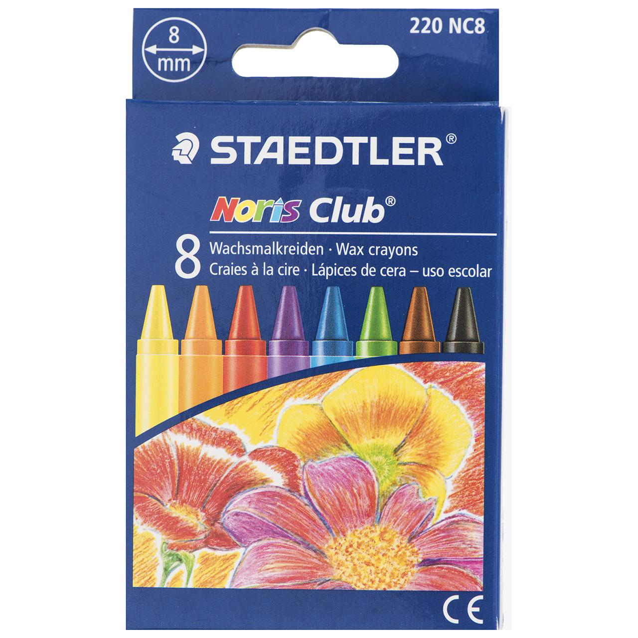 مداد شمعی 8 رنگ استدلر مدل Noris Club
