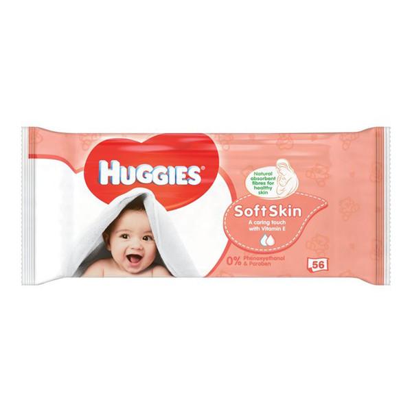دستمال مرطوب و پاک کننده کودک هاگیز بسته 56 عددی