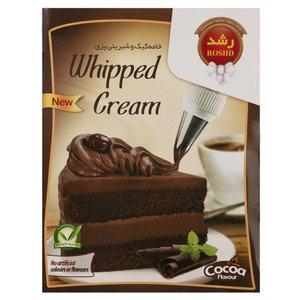 پودر خامه کیک و شیرینی پزی کاکائویی رشد مقدار 75 گرم