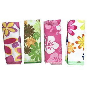 دستمال آشپزخانه ایرسا طرح گل بسته 4 عددی