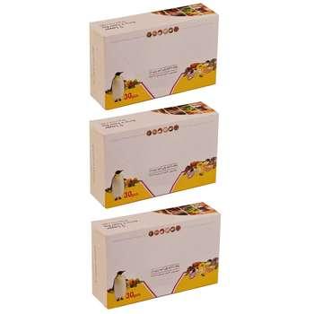 پاکت زیپ دار پنگوئن مدل 002 بسته 90 عددی