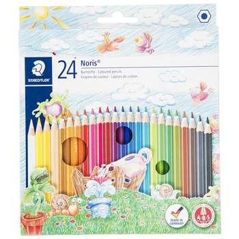مداد رنگی 24 رنگ استدلر مدل Noris Club
