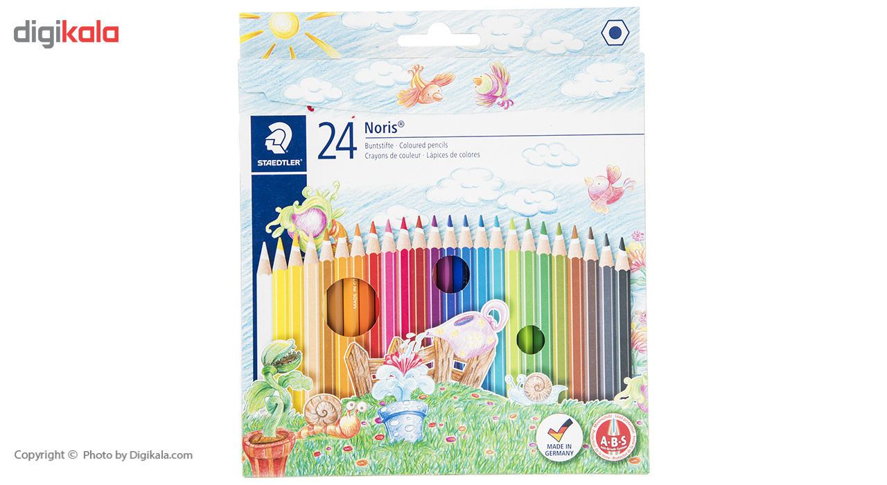 مداد رنگی 24 رنگ استدلر مدل Noris Club main 1 1