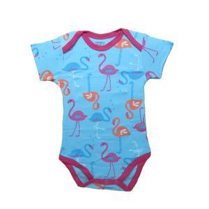 لباس زیر دکمه دار آستین کوتاه دخترانه کارترز مدل blue swan