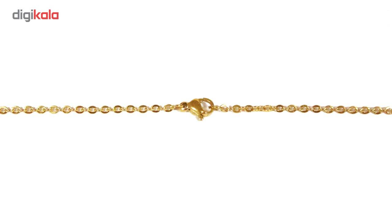 گردنبند آی جواهر طرح اسم فاطمه انگلیسی کد ge1100107 -  - 3