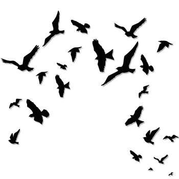 استیکر چوبی ژیوار طرح پرواز