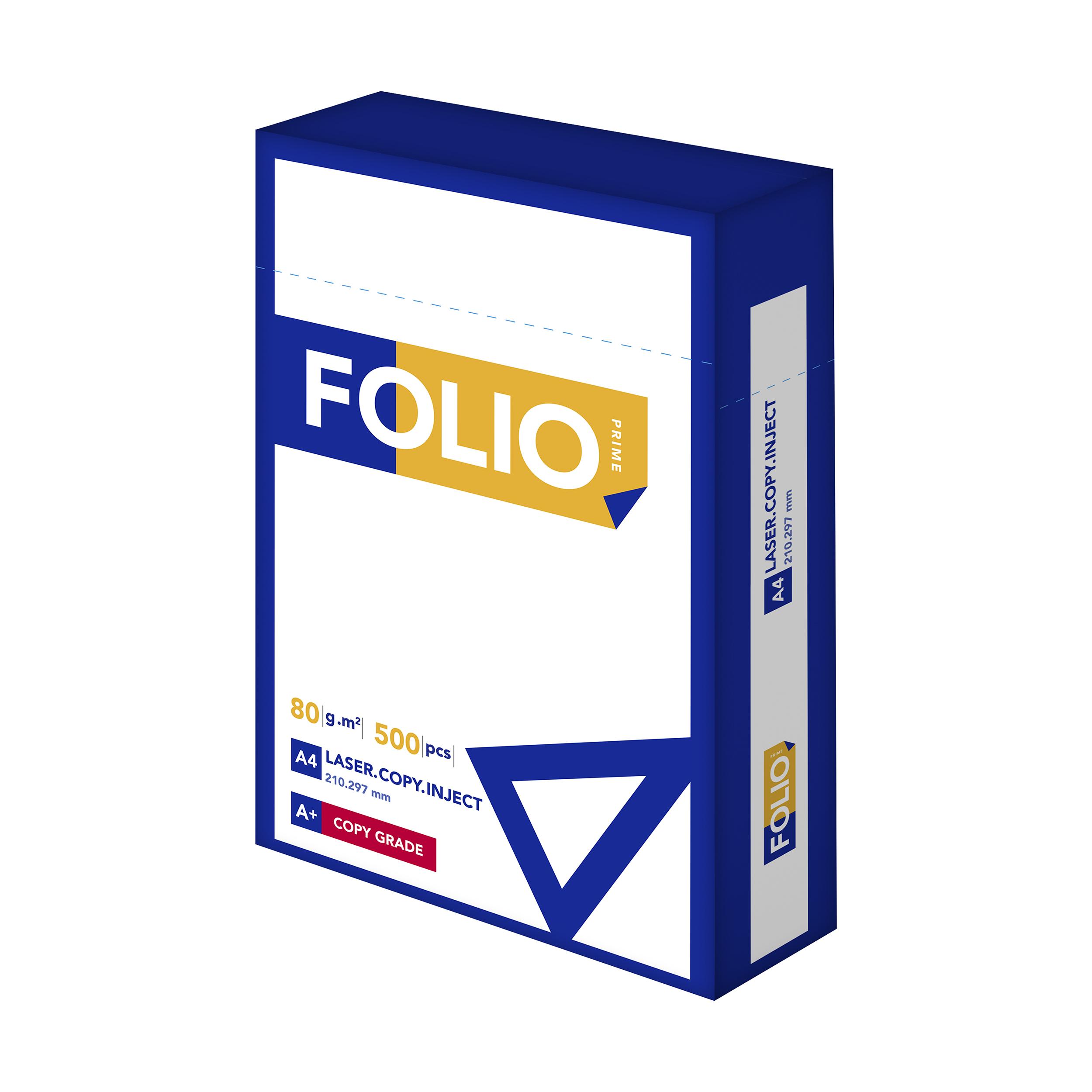 کاغذ A4 فولیو پرایم مدل +A بسته 500 عددی