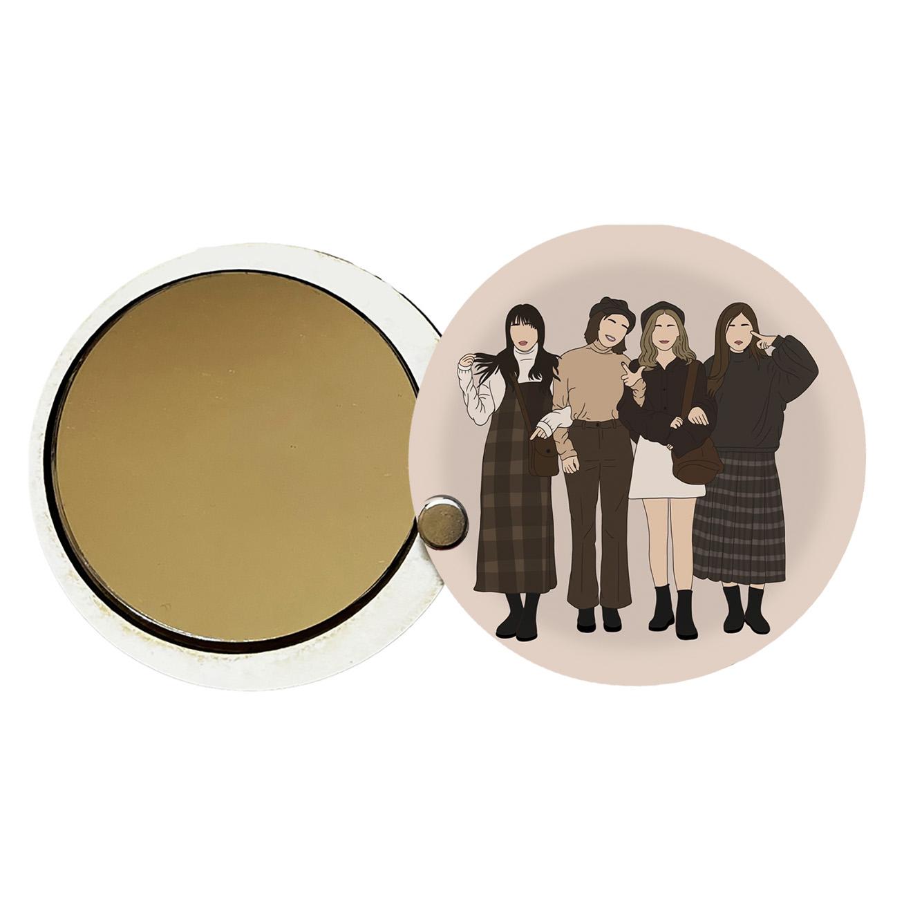 آینه جیبی طرح دخترانه کد ay67