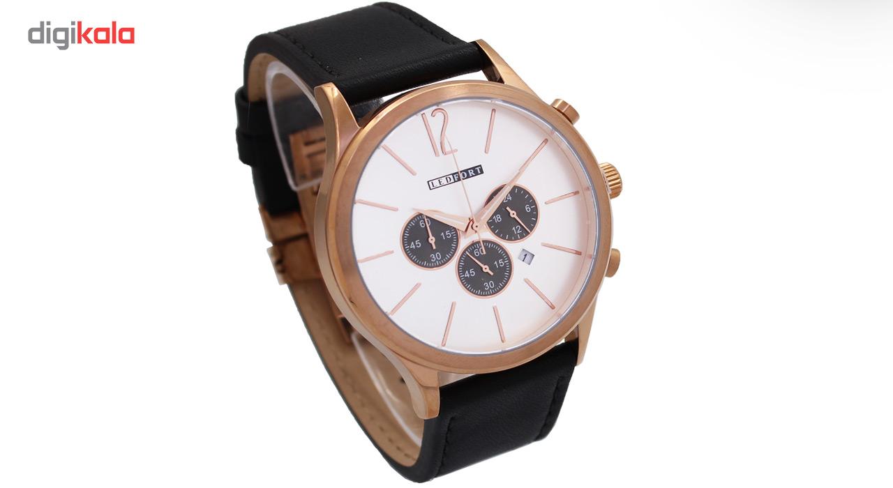 خرید ساعت مچی عقربه ای مردانه لدفورت مدل کرنوگراف کد MK-0053