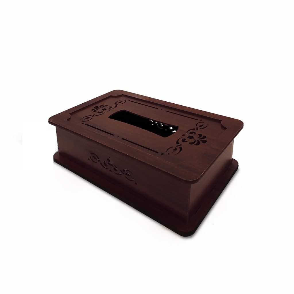 عکس جعبه دستمال کاغذی چوب آرا مدل پنج لایه