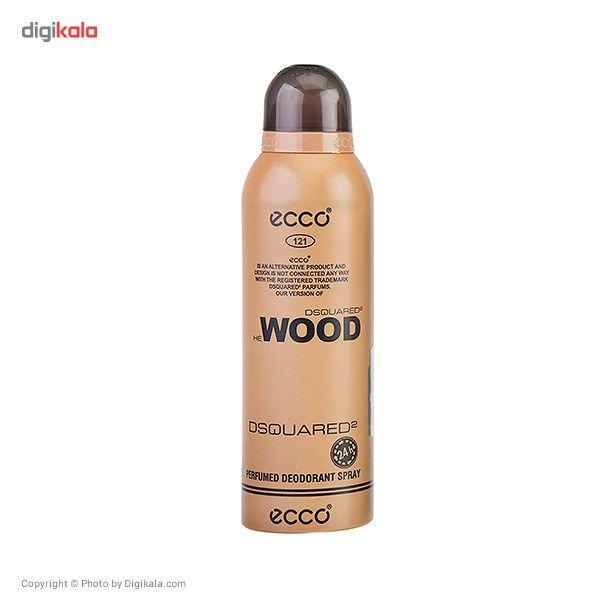 اسپری مردانه اکو مدل Dsquared2 Wood حجم 200 میلی لیتر  Ecco Dsquared2 Wood For Men 200ml
