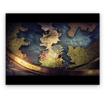 تابلو شاسی دکوماس طرح بازی تاج و تخت نقشه وستروس کد Game Of Thrones DMS-T144