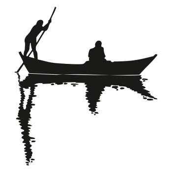 استیکر دیواری طرح قایق