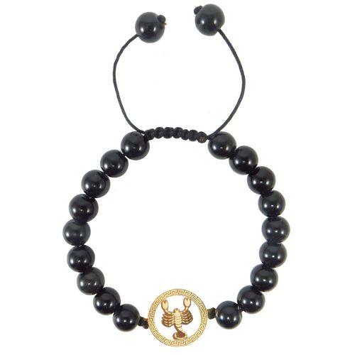 دستبند طلا 18 عیار نوین زر طرح ماه تولد آبان