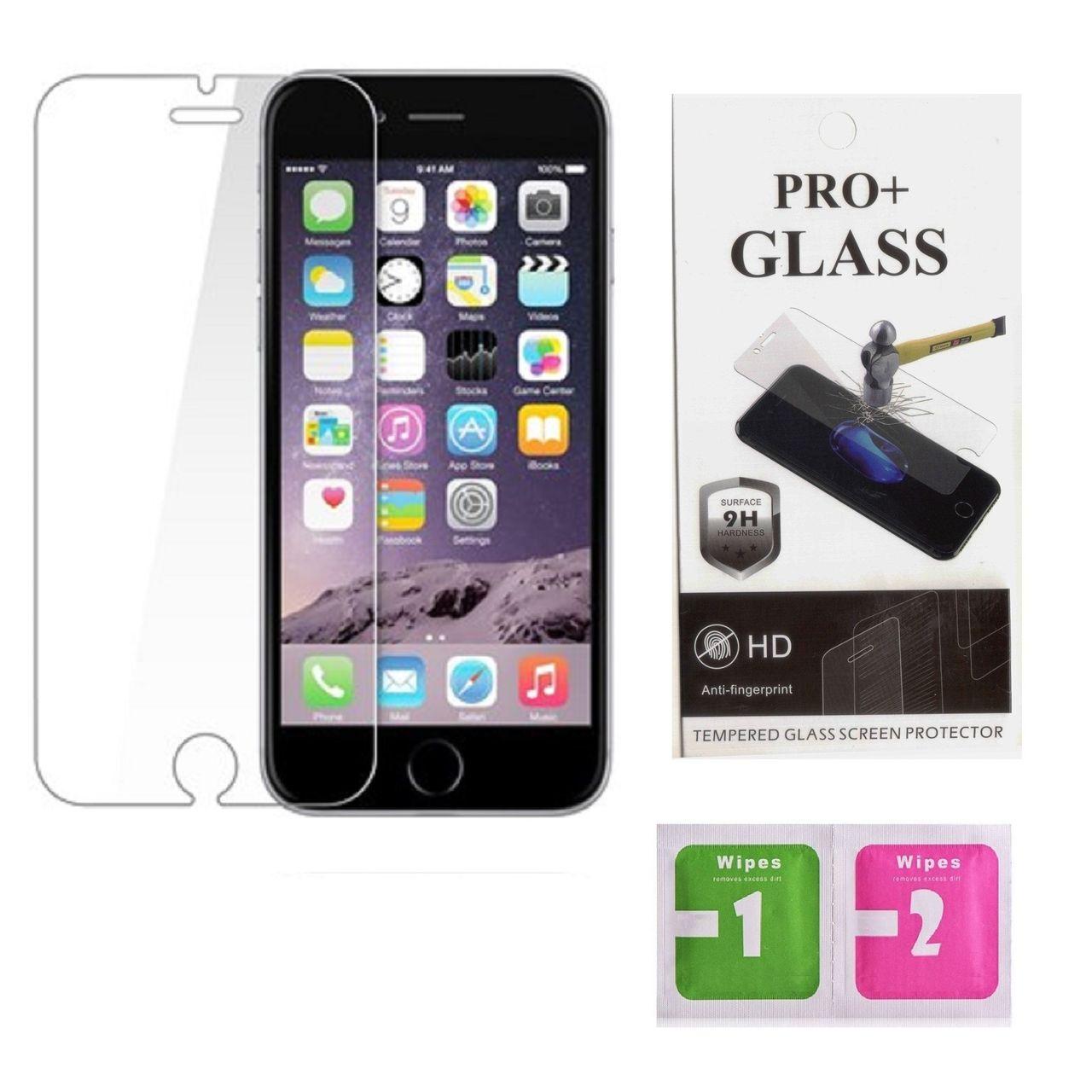 محافظ صفحه نمایش گلس پرو پلاس مدل HD ANTI FINGERPRINT مناسب برای گوشی موبایل  APPLE IPHONE 6 PLUS/6S PLUS