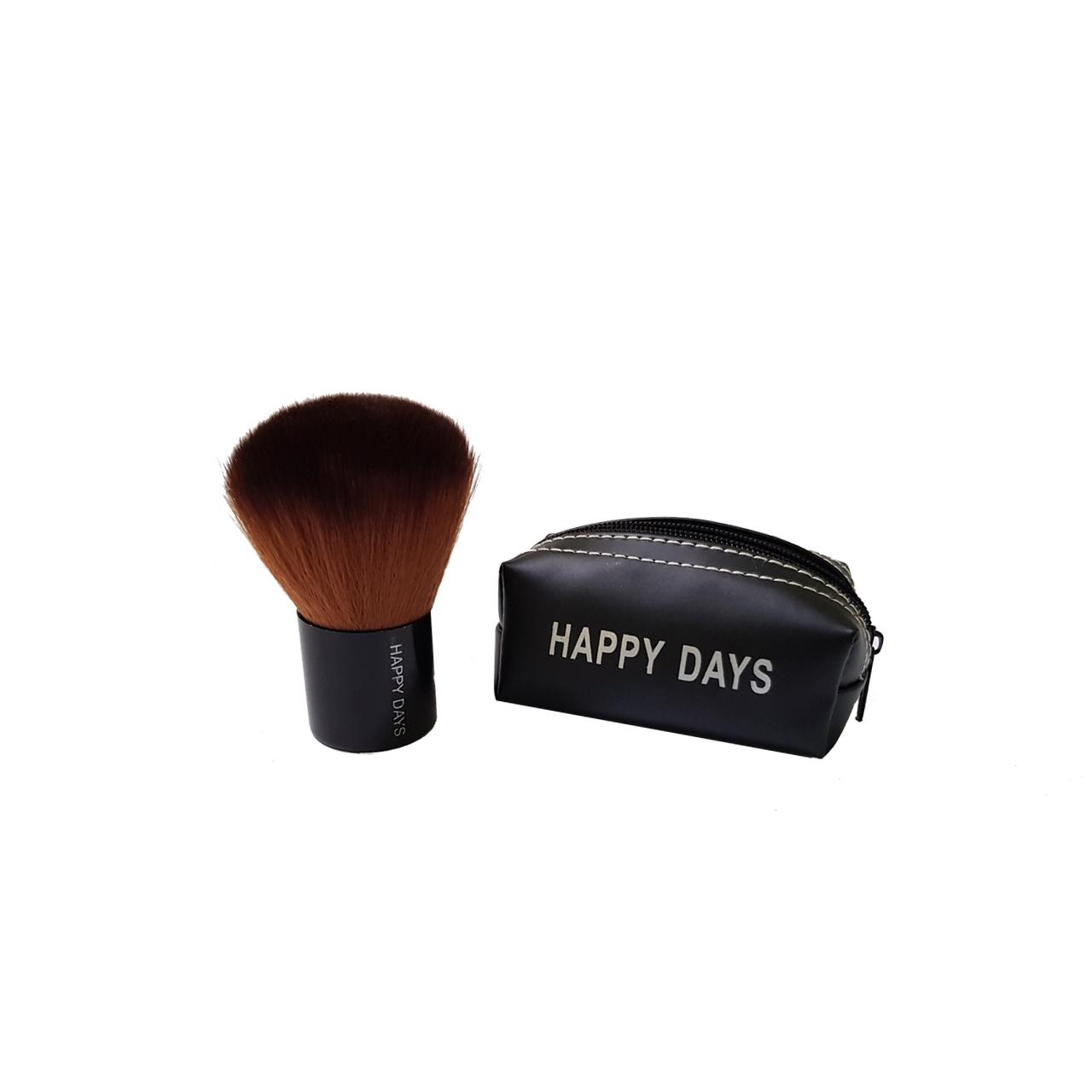 برس رژگونه happy days مدل 01 همراه کیف