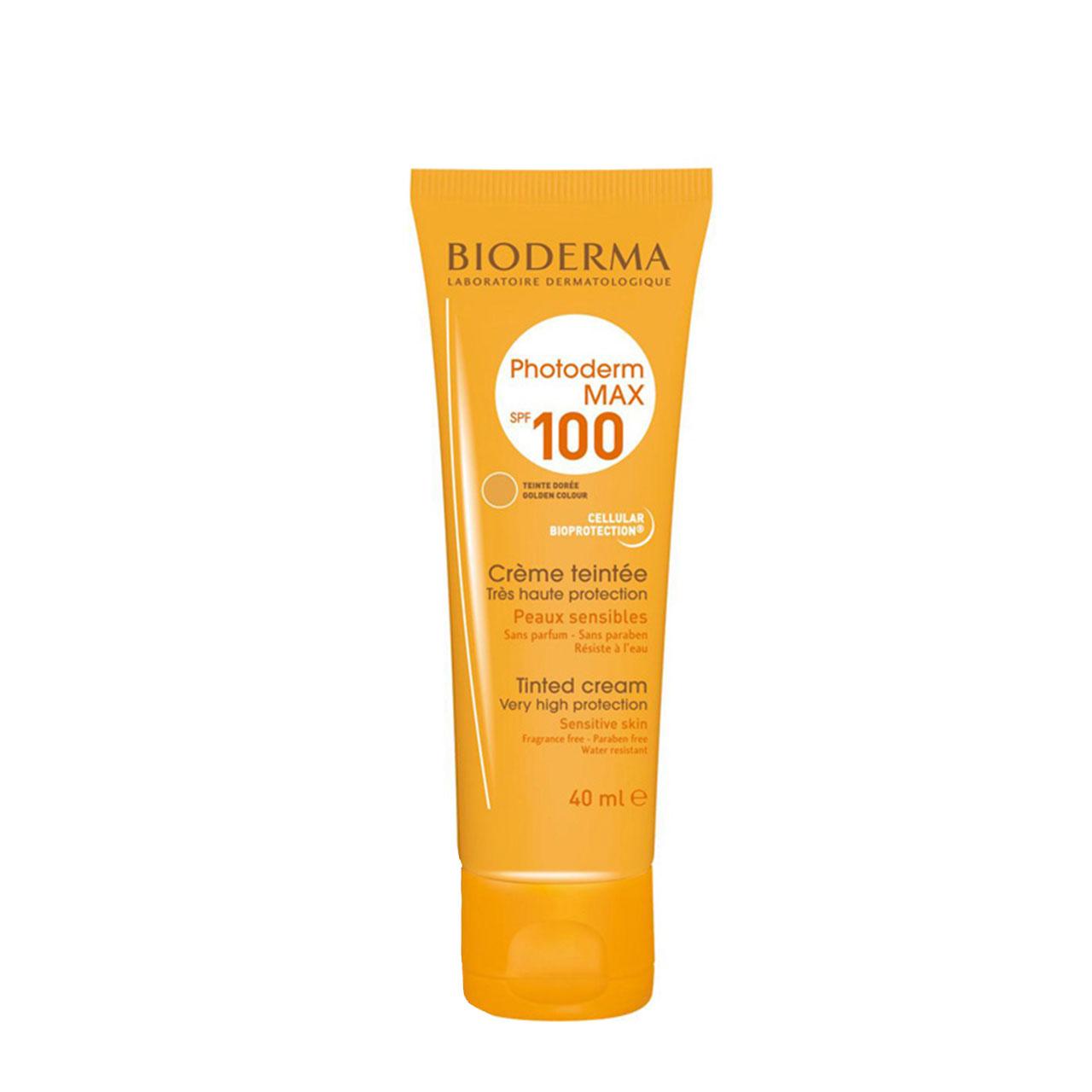 قیمت کرم ضد آفتاب رنگی بیودرما مدل Golden colour حجم 40 میلی لیتر