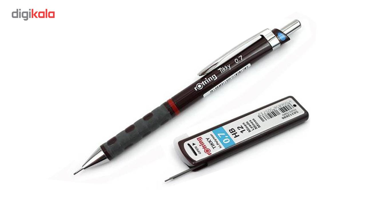 نوک مداد نوکی 0.7 میلی متری روترینگ مدل hi-polymer بسته 2 عددی main 1 4