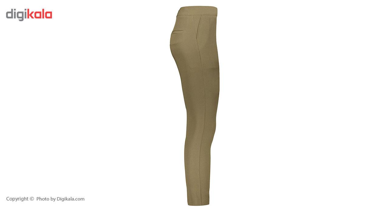 شلوار شالدار پارچه ای زنانه راسته فیت رنگ یشمی مدل 237 main 1 4