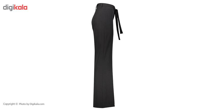 شلوار زنانه دمپا گشاد پارچه ای مشکی مدل 241/1