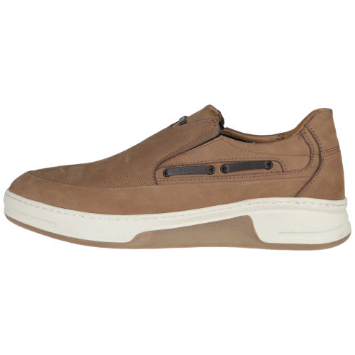 کفش چرم مردانه استینگ مدل بی بند 02 عسلی