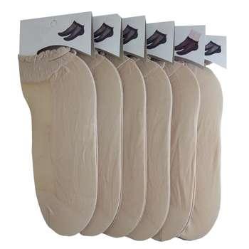 جوراب زنانه مدل قایقی k2 بسته 6 عددی