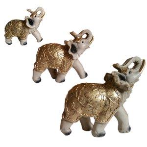 مجسمه طرح فیل عاج دار هندی مدل EL مجموعه سه عددی